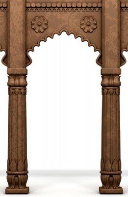 Nálepka Tradiční indický Sloupec Arc