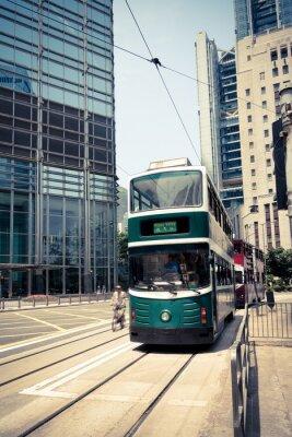 Nálepka tramvaj v Hong Kongu