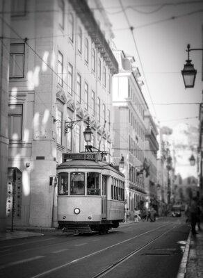 Nálepka Tramvaj v Lisabonu, retro