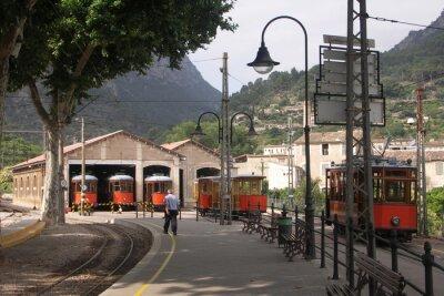 Nálepka Tramvaje v halách Soller Mallorca ve Španělsku