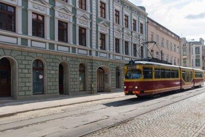 Nálepka Tramwaj w centrum Łodzi