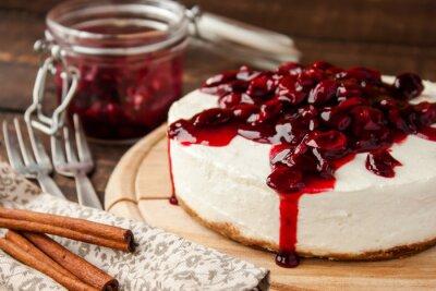 Nálepka třešňový koláč