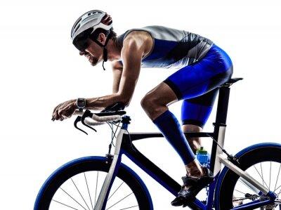 Nálepka triatlon Iron Man sportovec cyklista na kole