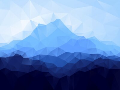 Nálepka Trojúhelník geometrický pozadí s Blue Mountain