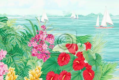 Tropical sea style