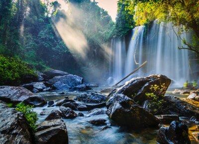 Nálepka Tropické vodopád