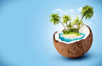 Nálepka tropický ostrov