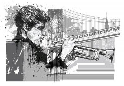 Nálepka Trumpetista v New Yorku (Brooklyn)