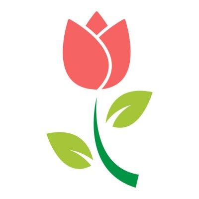 Nálepka Tulipán květ ikona vektor