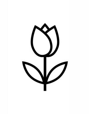 Nálepka tulipán květina ikonu