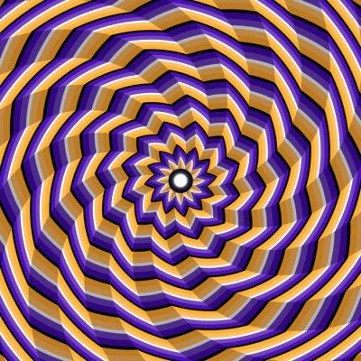 Nálepka Tváří spirála kroucení do centra. Abstraktní vektorové optický klam pozadí.