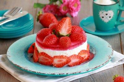 Nálepka tvarohový dort s ovocem