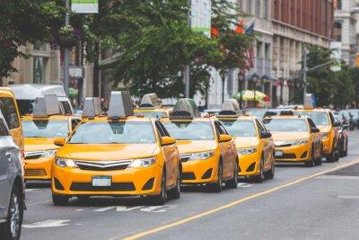 Nálepka Typické žluté taxi v New Yorku město