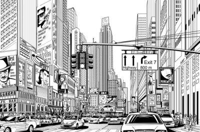 Nálepka ulice ve městě New York