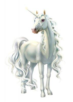 Nálepka unicorn, full-length isolated on white