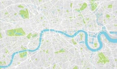 Nálepka Urban mapa města Londýn, Anglie