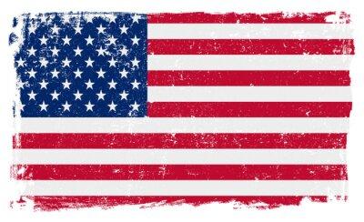 Nálepka USA vlajka ve vektorovém formátu