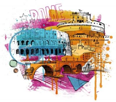 Nálepka Uvnitř Řím