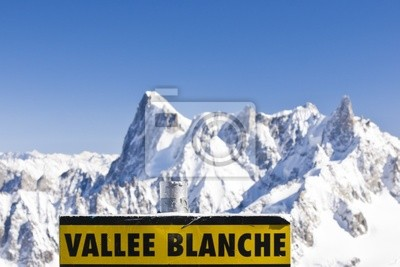 Vallee Blanche vývěsní štít