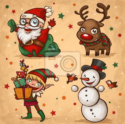 Nálepka Vánoční znaky