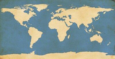 Nálepka Ve věku Mapa světa