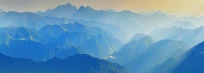 Nálepka Večerní hory