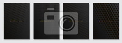 Nálepka Vector abstract background, creative subtle halftone patterns, geometric gradient texture. Deluxe Minimal pattern design. Dark colors. Modern Cover templates set.