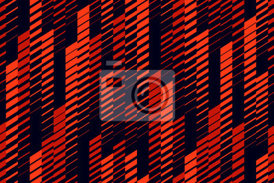 Nálepka Vector abstract geometric seamless pattern with vertical lines, tracks, halftone stripes. Extreme sport style, urban art texture. Trendy background in bright colors, neon red, lush lava, black
