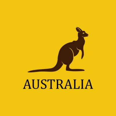 Nálepka Vector Austrálie klokan