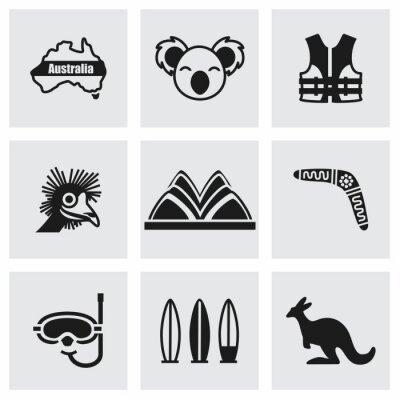 Nálepka Vector Austrálie sadu ikon