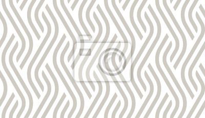 Nálepka Vector geometric diagonal fabric waves seamless texture. Cream colour background.