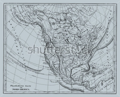 Nálepka Vector Historical map of Nord America from atlas published in 1851. Other vector maps in my portfolio.