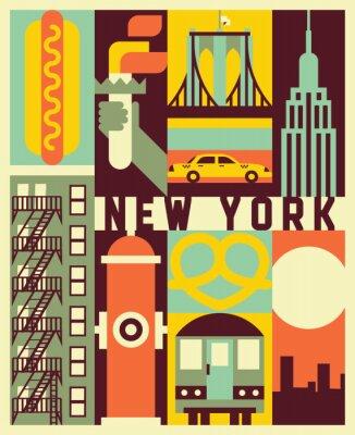 Nálepka Vector New York background