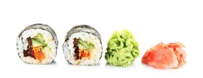 Nálepka Vegetariánské sushi izolovaných na bílém
