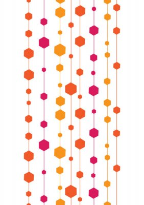 Nálepka vektor abstraktní barevné pruhy a tvary svislé hladké