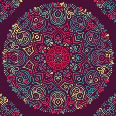 Nálepka Vektor indická Mandala