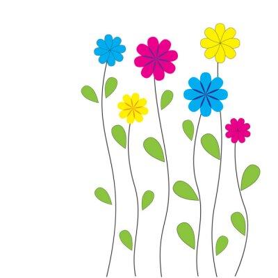 Nálepka Vektor květinové pozadí se srdíčky