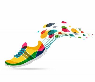 Nálepka Vektor plakát - běh a sport