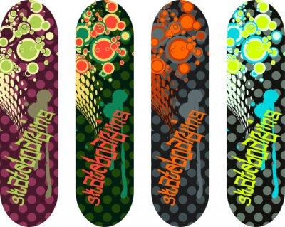 Nálepka Vektor skateboard provedení balení s graffiti tagy a abstraktních tvarů