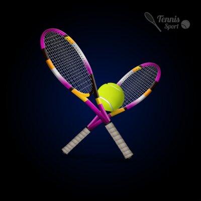 Nálepka Vektor tenis Symboly jsou stejné jako konstrukční prvky, tenisové míčky, tenisový r