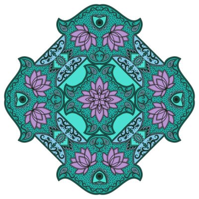 Nálepka Vektorové barevné mandaly.