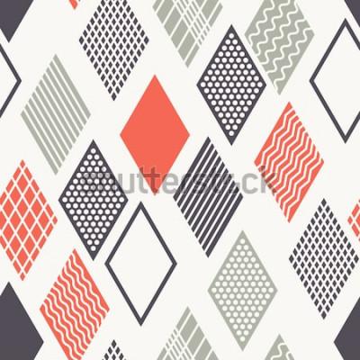 Nálepka Vektorové bezešvé vzor. Moderní stylová textura. Geometrický ornament s barevnými kosočtverců