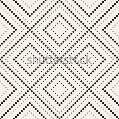 Nálepka Vektorové bezešvé vzor. Moderní stylová textura. Opakující se geometrické dlaždice s tečkovaným kosočtvercem