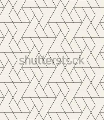 Nálepka Vektorové bezešvé vzor. Moderní stylová textura s černobílými mřížovinami. Opakující se geometrická trojúhelníková mřížka. Jednoduchý grafický design. Módní bederní posvátná geometrie.
