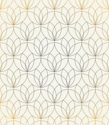 Nálepka Vektorové bezešvé vzor. Ornament se stylizovanými květinami. Geometrické stylové pozadí. Moderní opakující se textury. Moderní grafický design.