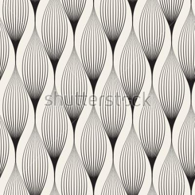 Nálepka Vektorové bezešvé vzor. Stylové pozadí abstraktní s stylizované lístky