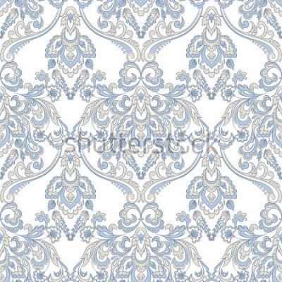 Nálepka Vektorové květinové tapety. Klasický barokní květinový ornament. Vzor bezešvé vinobraní