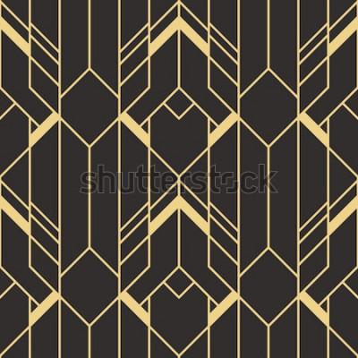 Nálepka Vektorové moderní dlaždice vzor. Abstraktní art deco bezešvé jednobarevné pozadí