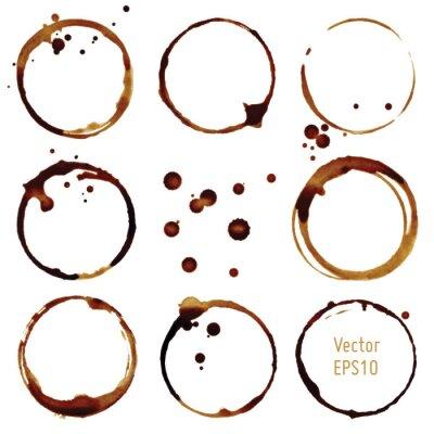 Nálepka Vektorové šálek kávy skvrny