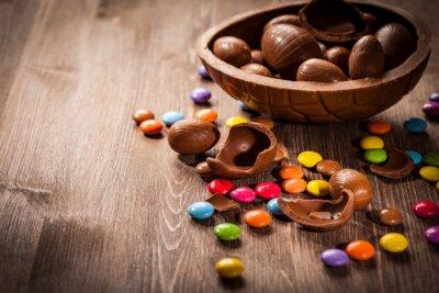 Nálepka Velikonoční čokoládové pozadí